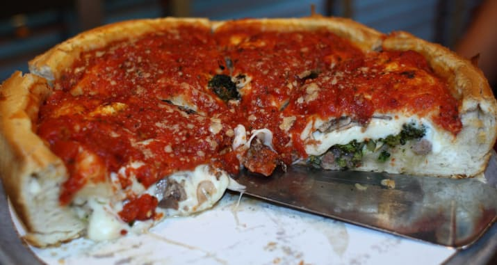 What it means everywhere else: A delicious food.What it means in the Midwest: DEEP. DISH.