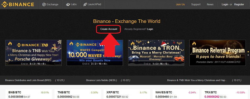 how to buy altcoins at binance crypto exchange